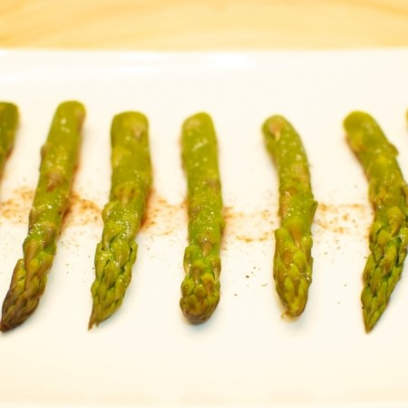 Asparagi al vapore all'agresto di San Miniato